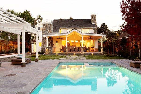Rear Exterior  Photo  of St. Helena Retreart modern home