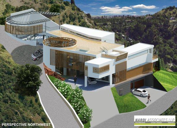 Benedict Canyon Luxury House Rendering - NW Photo  of Benedict Canyon Luxury House modern home