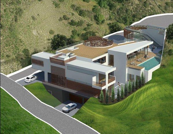 Benedict Canyon Luxury House Rendering - SW Photo 2 of Benedict Canyon Luxury House modern home