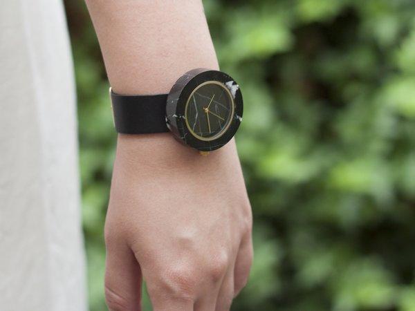 Black Marble Mason Watch