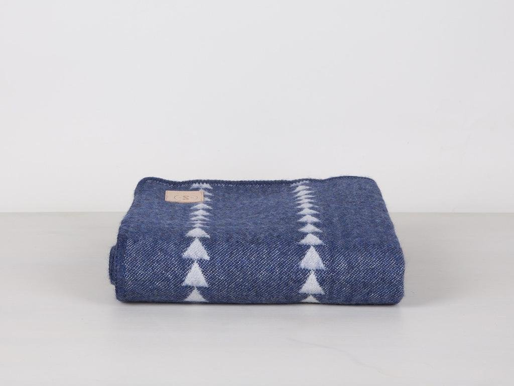 Photo 1 of 1 in Indigo Arrowhead Alpaca Throw