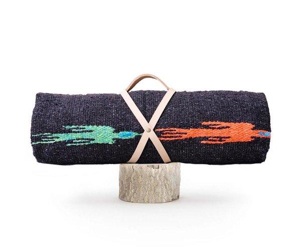 Vuela Gray Mexican Picnic Blanket