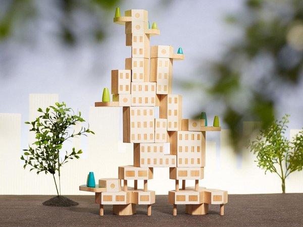 "Blockitecture City Building Blocks ""Garden City"""