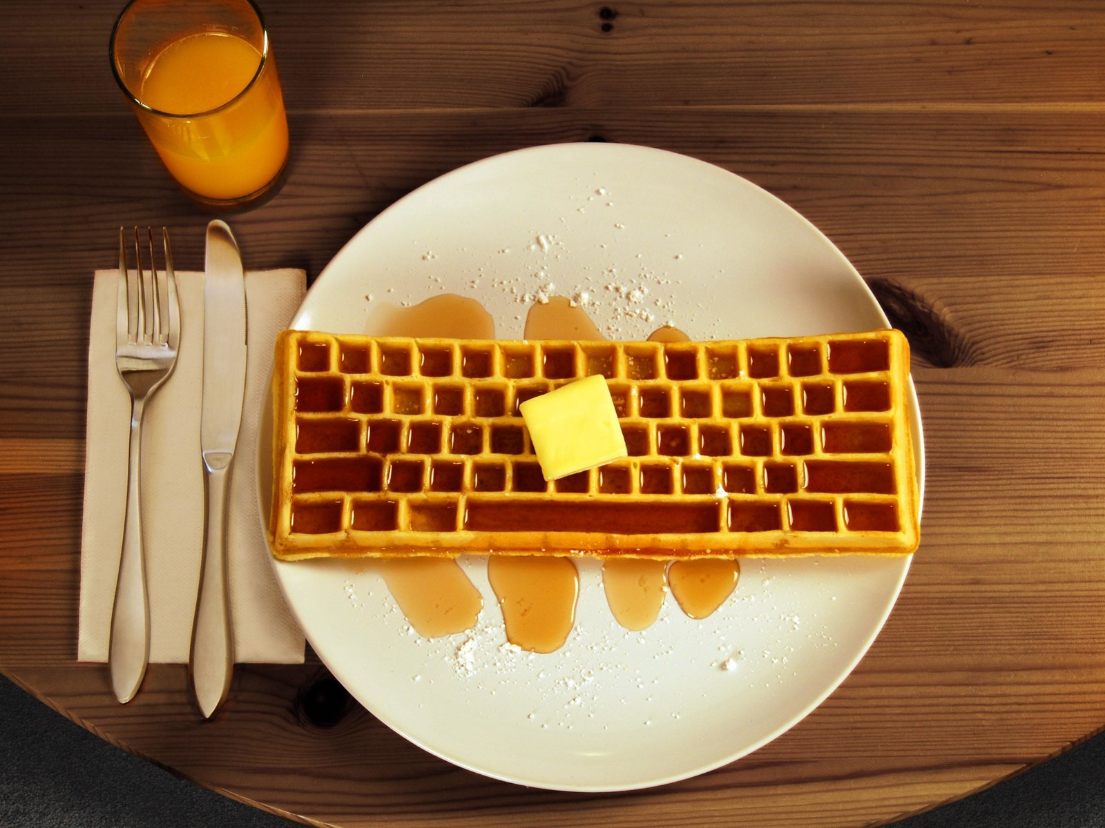 Photo 1 of 1 in The Keyboard Waffle Iron