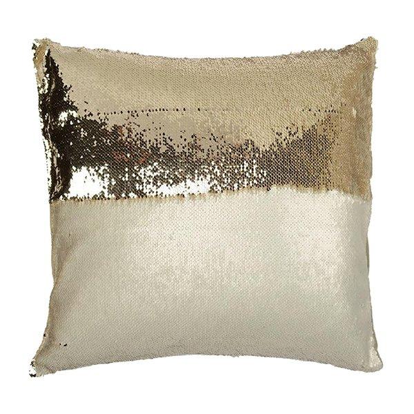 """Aviva Stanoff Design Sequin Accent Pillow """"Mermaid"""""""