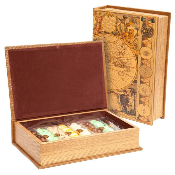 Antique Map Chocolate Book Box