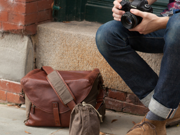 "Moore & Giles Fine Leather Camera Bag ""Lew"""