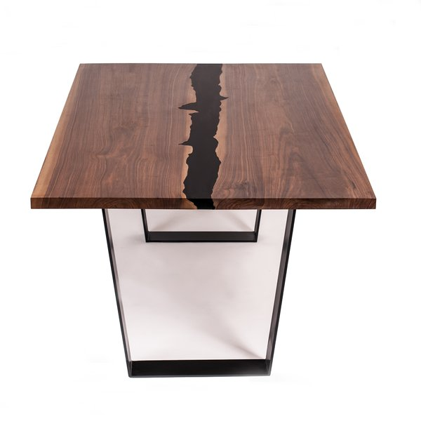 "Walnut Dining Table ""Midnight Nile River"