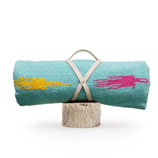 """Handwoven Blanket """"Vuela Aqua"""""""
