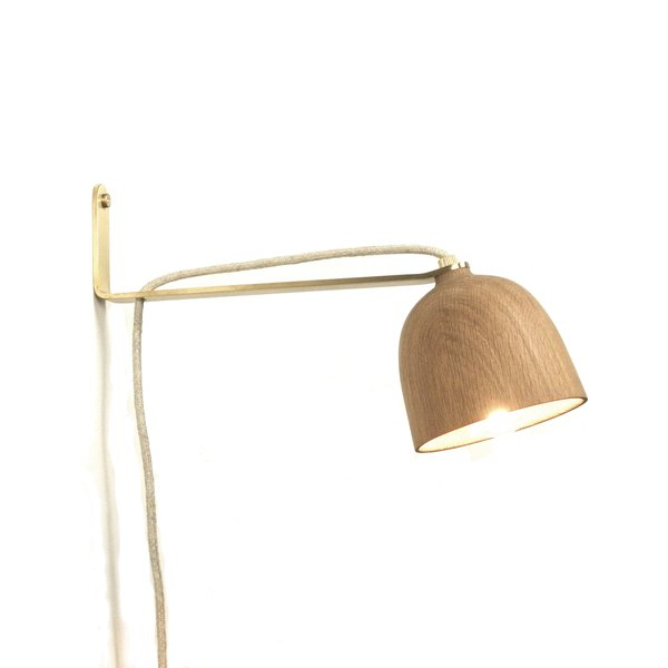 White Oak Crane Sconce