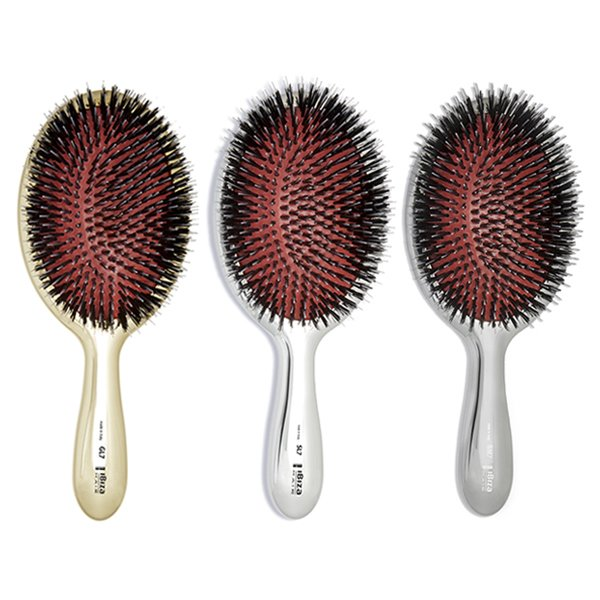 Ibiza Hair Mixed Boar Bristle & Nylon Metallic Oval Brush
