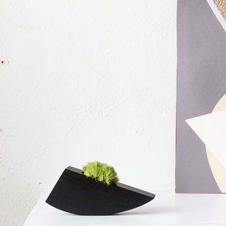 Ebonized Succulent Planter