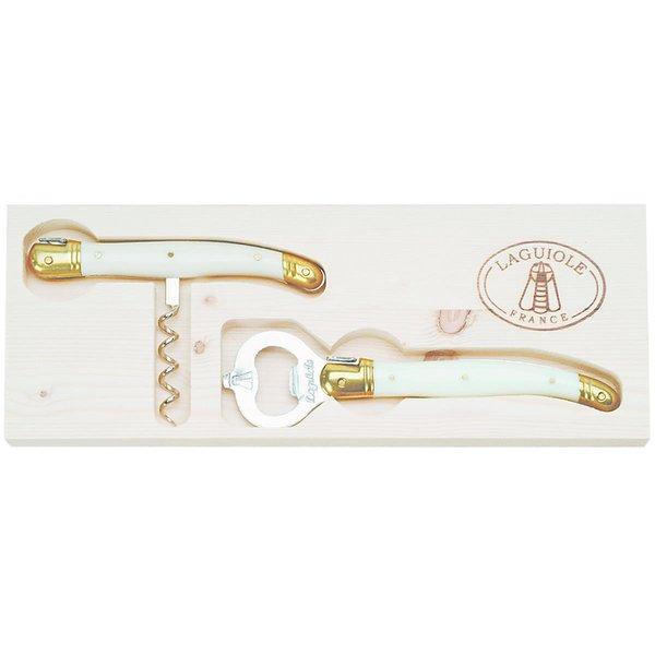 Ivory Corkscrew & Opener Set