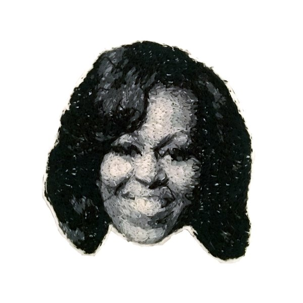 Michelle Obama Embroidered Pin