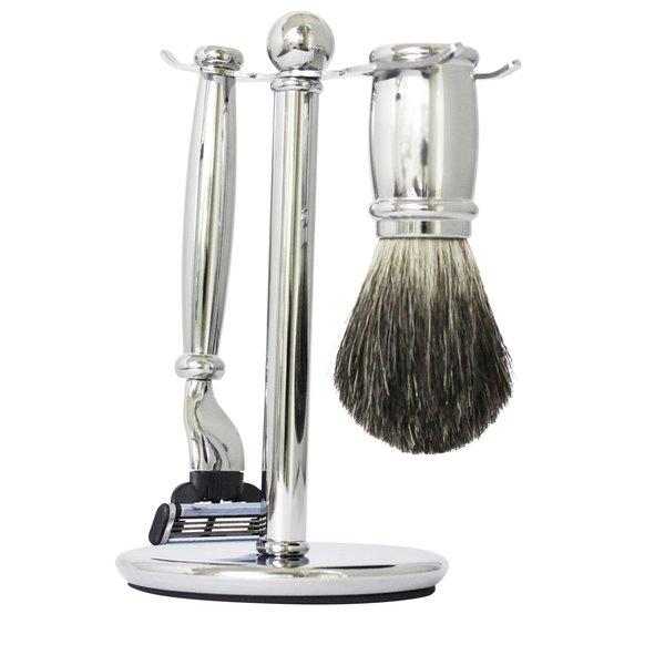 "Mens Shave Set by Razor Md ""Chrome 17"""