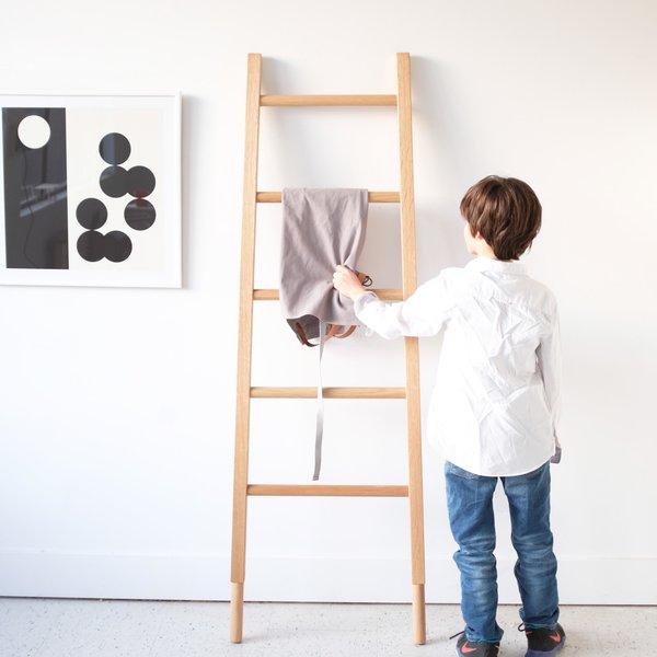 Modern White Oak Towel Ladder
