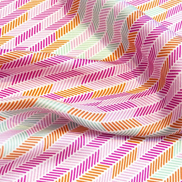 Herringbone Lapis Silk Scarf