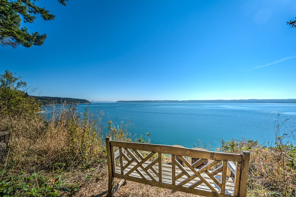 Southern waterfront looks over to Whidbey Island from Camano Island  Palil: a place of rest and rejuvenation by Anne Taylor