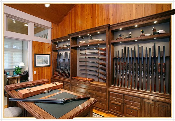 Modern home with storage room and cabinet storage type. https://gunnewsdaily.com/best-hunting-rifles-beginner/ Photo  of Homemade Wooden Gun Storage for Rifles