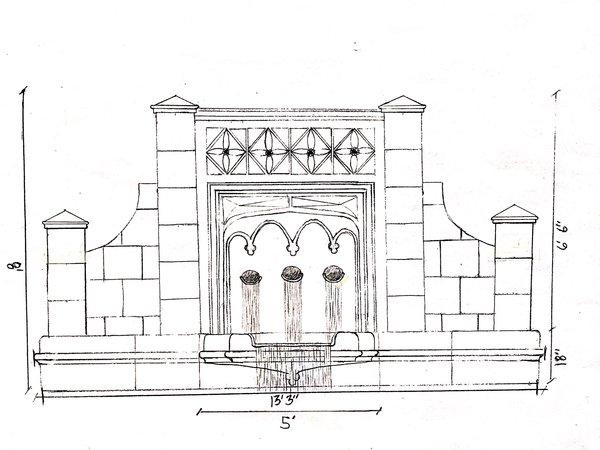 Photo 2 of Custom Gothic Pool Fountain modern home