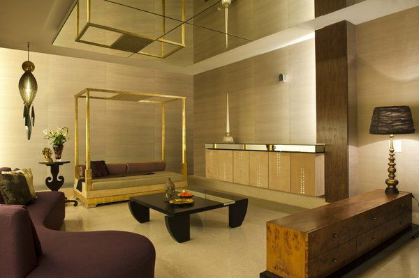 The amber basement living room Photo  of In the details modern home