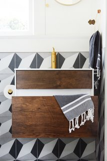 A Small 1920s Guesthouse Bathroom Gets A Modern Makeover - Photo 1 of 9 -