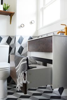 A Small 1920s Guesthouse Bathroom Gets A Modern Makeover - Photo 2 of 9 -