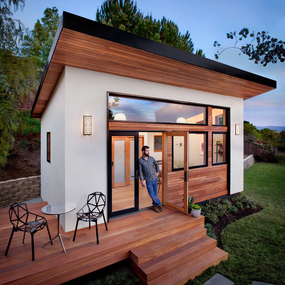 Avava Prefab Tiny House has brought design and drafting solutions to Hawaii homeowners, real estate investors, and contractors. Tagged: Outdoor, Back Yard, Shrubs, Small Patio, Porch, Deck, Grass, and Wood Patio, Porch, Deck. 10 Tiny Happy Hawaiian Huts - Photo 2 of 10