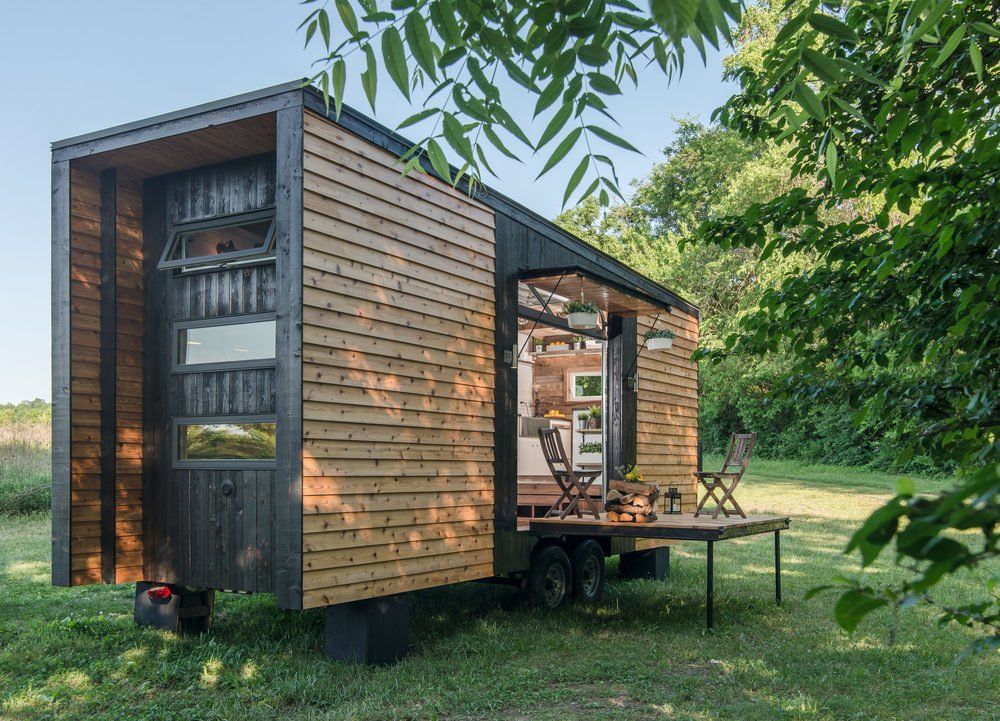 New Frontier Tiny Homes' Alpha Tiny Home is the company's flagship model.