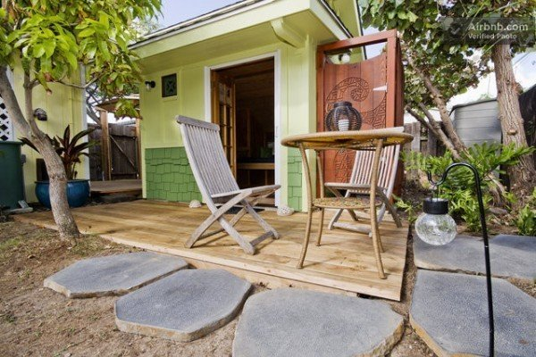 The Little Coconut in Kailua is a lovely micro-cottage that you can rent or vacation in via AirBnb.