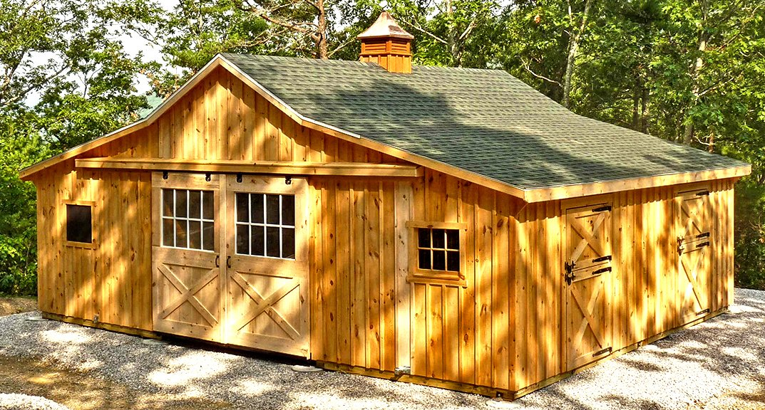 Hailing from Lancaster County Pennsylvania, the heart of Amish Country, Horizon Structures' modular barns cost less than traditional