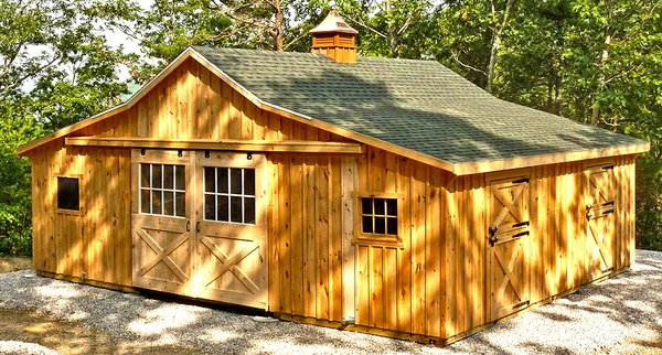 """Hailing from Lancaster County, Pennsylvania, the heart of Amish Country, Horizon Structures' modular barns cost less than traditional """"stick built"""" barns and take only a few days to put up."""