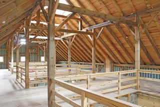 10 Prefab Barn Companies That Bring DIY to Home Building - Photo 9 of 10 - New England Barn Company adheres to the old-fashioned ethic embodied in the sturdy, long-lasting construction method of Mortise and Tenon Joinery—using pegs rather than nails.
