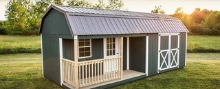 10 Prefab Barn Companies That Bring DIY to Home Building - Photo 10 of 10 - Woodtex's ready-made barns are ideal as storage sheds, garden sheds, tool sheds, recreational workshops, office spaces, garages, or cabins.