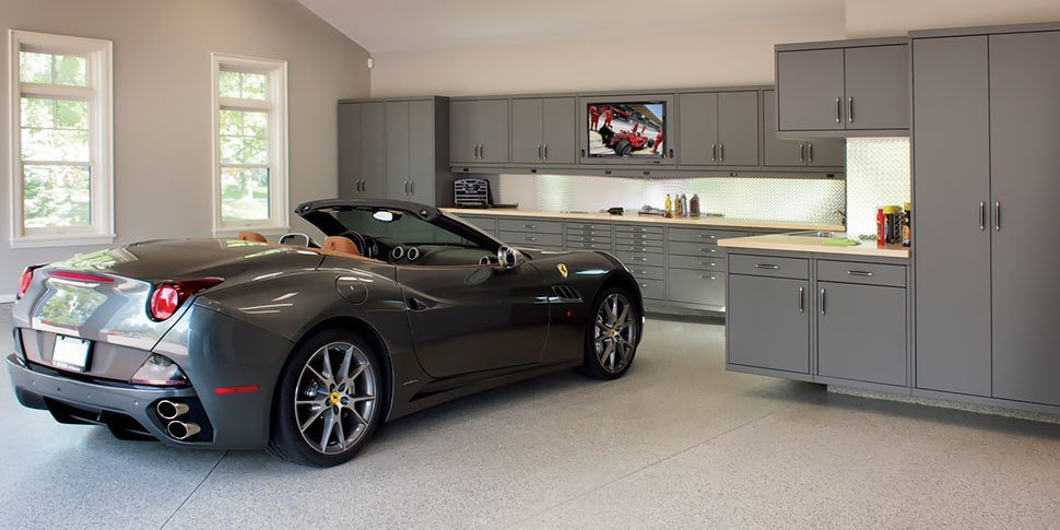 When it comes to kitting out your workspace, look to Garage Living's signature line of modular cabinet systems which can be configured to meet your garage storage needs, space, and budget.  Photo 4 of 10 in 10 Prefab Garage Solutions For Auto Enthusiasts