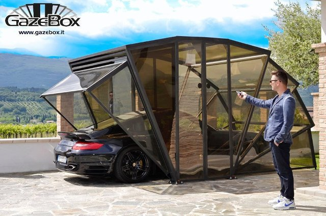Here's something different. GazeBox's special anti-UV polycarbonate panels give protection from the sun, hail, rain, wind, ice, pets and birds.