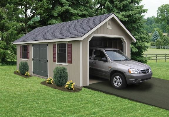 A prefabricated garage is the perfect storage solution for one car or off-road vehicles.
