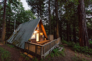 Alfie the A-Frame and 10 Other A-Grade Accommodations - Photo 1 of 11 - Enjoy peace, quiet, and beautiful views in Cazadero, CA. Your own little triangle situated in the midst of the mighty redwoods (and only 45 minutes away from San Francisco). Light a fire, grab a book, and snuggle up in that inviting nook of a bedroom. For each rental, $50 is donated to Raphael House, a San Francisco organization whose goal is to help at-risk families achieve stable housing and financial independence.