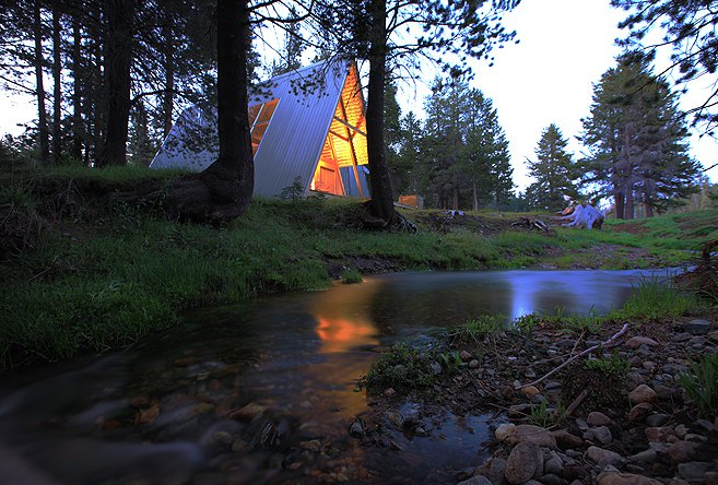 This modern A-frame is in a beautiful remote location in the Sierra National Forest, California at an elevation of 7000 feet. Fourteen miles above Bass Lake on the Sierra Vista Scenic Byway, this property is surrounded by amazing meadows, secret swimming holes, and miles and miles of undiscovered hiking trails. Your own private Yosemite without the crowds. Alfie the A-Frame and 10 Other A-Grade Accommodations - Photo 3 of 12