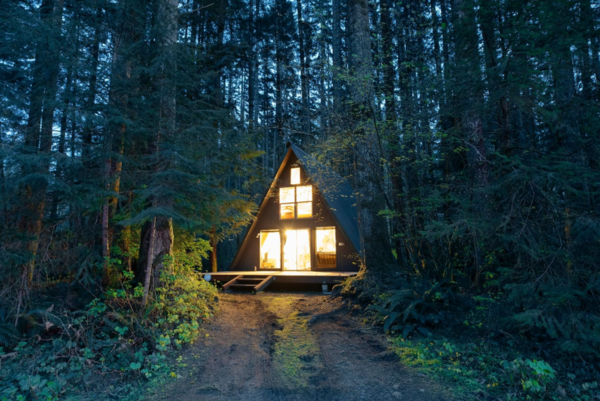 This A-frame is settled in the private cabin community of Timber Lane Village, just minutes from Steven's Pass ski resort and some of the best hiking spots in the central cascades.