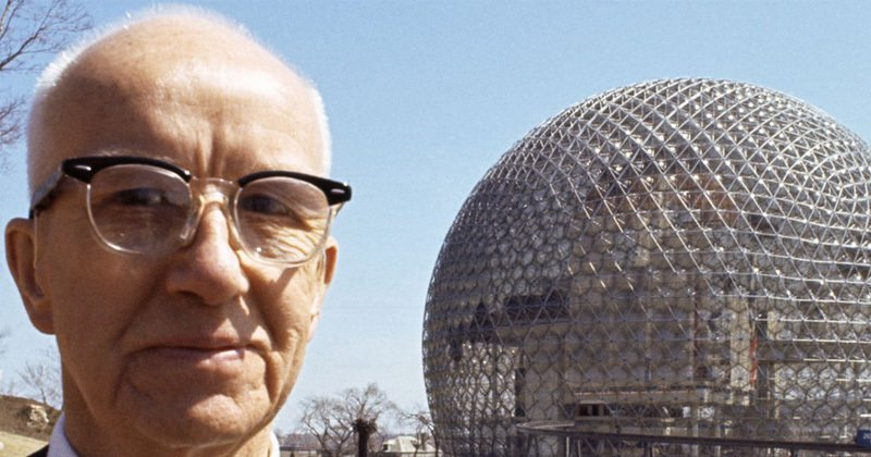 R. Buckminster Fuller is credited with inventing the geodesic dome, and designing over 3000 domes