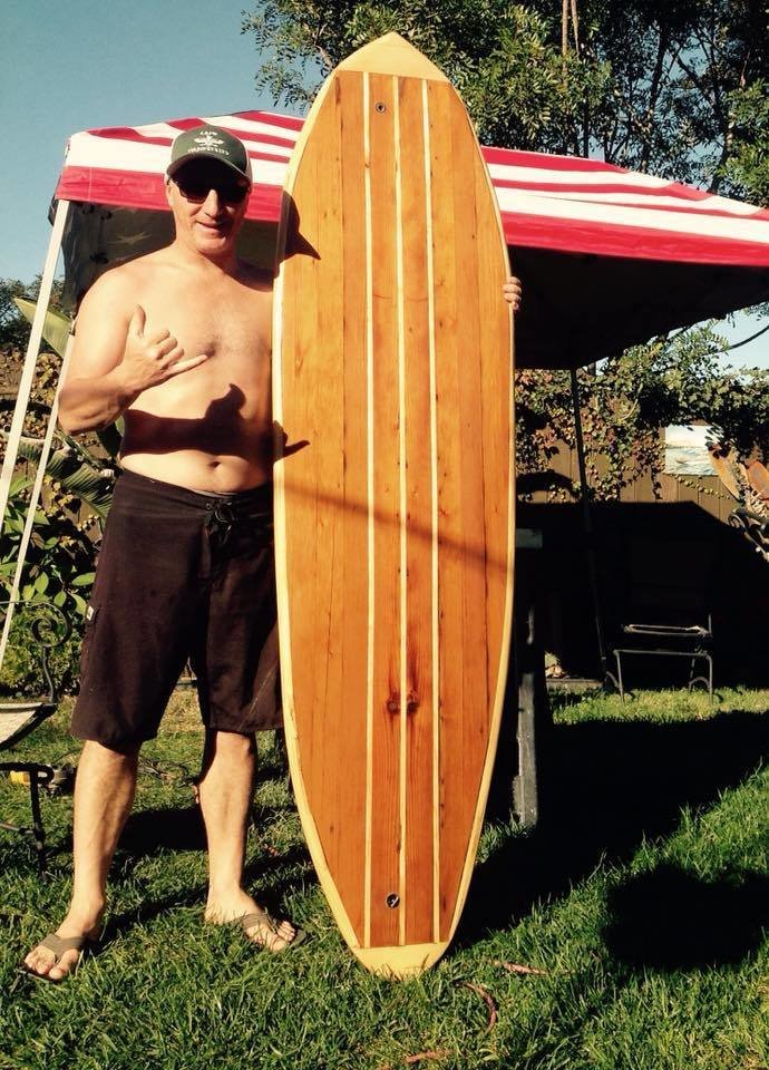 One stoked shaper. Crafting a Hollow Wood Surfboard from Old-Growth Redwood - Photo 21 of 26
