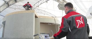World's First 3D-Printed House Springs up in Russia in 24hrs - Photo 3 of 8 - TechnoNICOL Corporation provided the roofing materials, hydro-acoustic and thermal insulation, as well as solutions for the transportation and road construction for this project.