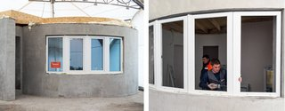 World's First 3D-Printed House Springs up in Russia in 24hrs - Photo 5 of 8 - Fabrika Okon, a manufacturer of thermo-windows with climate control, provided the double-glazed windows.