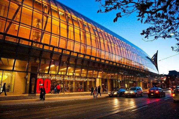 Hallmarks of Gehry's AGO design connect the city and the Gallery in provocative new ways including dramatic sculptural staircases, the warmth of Douglas fir, and the extensive use of glass which infuses the galleries with natural light.