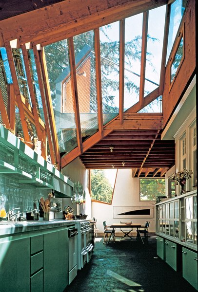 Originally built in 1920 and purchased by Gehry in 1977, the Gehry House features a metallic exterior wrapped around the original building that leaves many of the original details visible. In 2012, it won the American Institute of Architects' prestigious Twenty-Five Year Award.