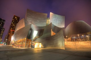 Walt Disney Concert Hall has received wide acclaim for its excellent acoustics and distinctive architecture. In the decade since its opening, the hall's sweeping, metallic surfaces have become associated with Frank Gehry's signature style.