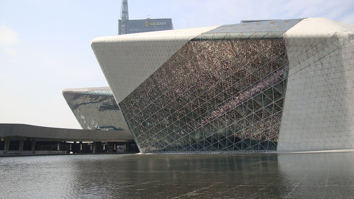 """A review in the New York Times says of Guangzhou Opera House: Tagged: Exterior.  Photo 7 of 18 in """"Queen of the Curve"""": 18 Influential Works by Zaha Hadid"""
