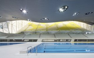 "One of the main venues of the 2012 Summer Olympics and the 2012 Summer Paralympics, the center was used for the swimming, diving, and synchronized swimming events. After significant modification, the center opened to the public in March 2014. ""All of the world-class sporting venues on the magnificent Queen Elizabeth Olympic Park have secured bright futures, dispelling fears of white elephants and helping to drive our ambitious regeneration plans for east London,"" then-mayor of London Boris Johnson said after the reopening."