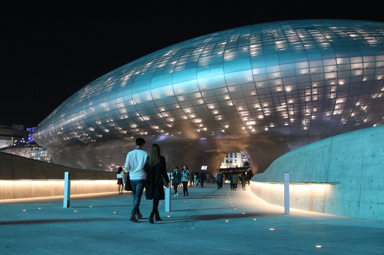 "Dongdaemun Design Plaza (2008–14), Seoul, South Korea Tagged: Exterior.  Photo 15 of 18 in ""Queen of the Curve"": 18 Influential Works by Zaha Hadid"
